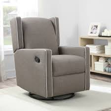 Recliner Rocking Chair Mon Bebe Everston Wing Back Swivel Glider Recliner Grey Kids N