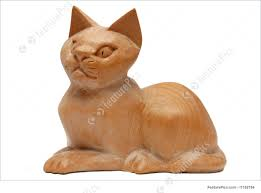 wooden cat wooden cat photo