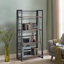 amazon com vogue carpenter 4 tier bookcase shelf organizer no