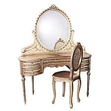 vintage style ladies vanity dressing table with mirror thisnext