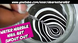 nail art water marble dearnatural62 youtube