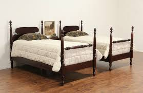 Poster Bed by Sold Pair Of Mahogany Twin Pineapple 1930 U0027s Vintage Poster Beds