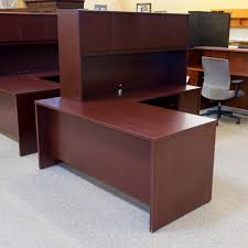 Mahogany Office Desk Used National 66 Right L Shape Executive Office Desk With Hutch