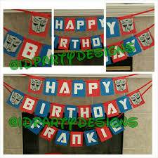 transformers bumblebee and optimus party cake topper transformers optimus prime banner bumblebee depecticon banners