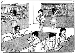 library clipart black white clipartxtras