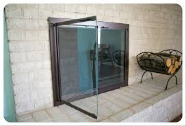 modern fireplace glass doors modern style glass doors fireplace
