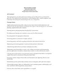 Maintenance Job Description Resume Job Rn Job Description Resume
