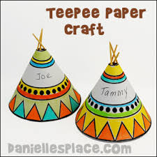 printable thanksgiving crafts teepee paper craft thanksgiving table topper printable craft