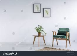 Small Chair White Interior Kale Green Chair Rug Stock Photo 578977615