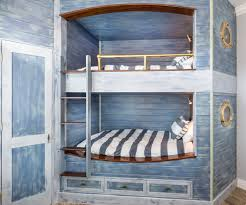 cabin bunk bed ideas bedroom beach style with nautical stripes