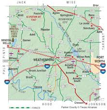 Texas State Park Map by Parker County The Handbook Of Texas Online Texas State