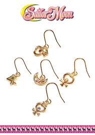 design of earing sailor moon 5 rulers design earing set bandai namco store europe