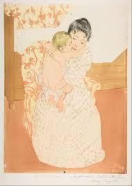mary cassatt maternal caress the met