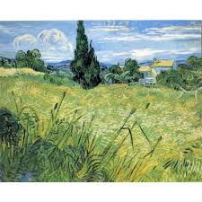 online get cheap wheat field paintings aliexpress com alibaba group high quality vincent van gogh paintings green wheat field with cypress oil on canvas hand painted home decor