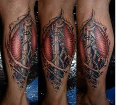 biomechanical tattoo for knee tattoo art cyborg tattoos photos