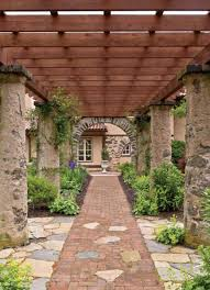 English Garden Pergola by Pergola Designs For Old House Gardens Old House Restoration