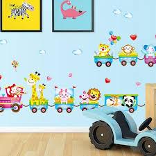 stickers animaux chambre bébé animaux dessins animés stickers muraux pour enfants chambres