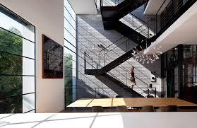 Brick Stairs Design Chairs Cool Black Steel Stairs Design With Brick Wall Decor Large
