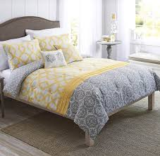 Yellow Bedding Set Grey And Yellow Comforter Sets Mainstays Chevron Bed In A Bag