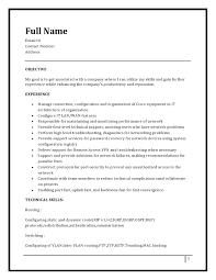 Sample Resume For Ccna Certified by Download Ccna Resume Haadyaooverbayresort Com
