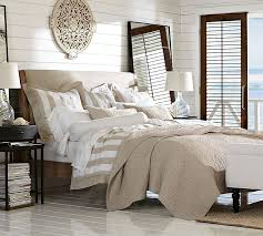 Platform Bed Headboard Adella Upholstered Platform Bed U0026 Headboard Pottery Barn