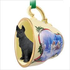 great dane teacup sleigh ornament figurine
