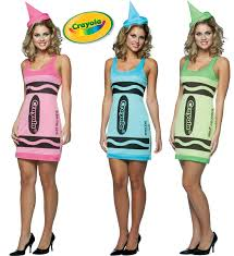crayola color tank costume crayon u0027s women dress pink green