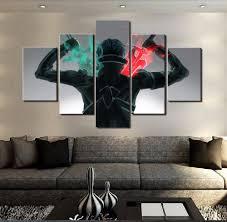 5 piece hd print sword art online modern for home decor paintings