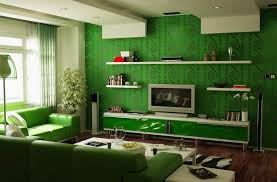 Combination Of The Green Color In The Interior - Green color for living room