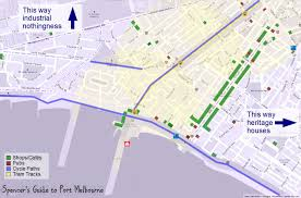 melbourne tram map spencer s guide to port melbourne graphical guide
