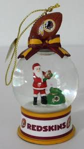 danbury mint washington redskins snow globe ornament danburymint