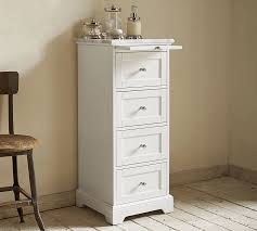 Bathroom Floor Storage Cabinets White Marble Top Sundry Tower Pottery Barn
