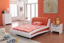 bedroom interactive kid blue orange bedroom decoration using