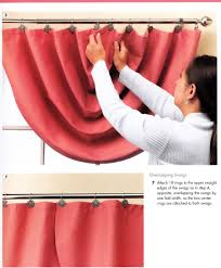Swag Curtains With Valance How To Make Swag Curtain Panels From The Book The Complete Photo