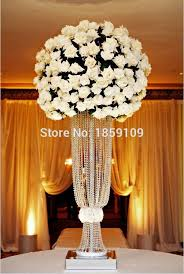 Wedding Centerpieces With Crystals by Aliexpress Com Buy 80cm Tall 10pcs Flower Design Metal Wedding