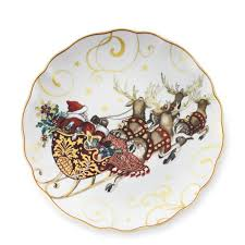 christmas plate twas the before christmas dinner plates santa williams sonoma
