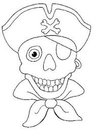 pirate coloring pages skull bones pirates