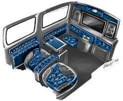 custom interior car design by rykunov sketches 2 interior design