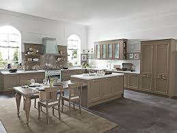 neoclassical style pleasant luxurious and warmth kitchen interior design in