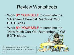 controlling chemical reactions worksheet answers the best and