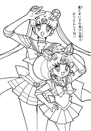 super sailor moon and chibimoon coloring page 3 by sailortwilight