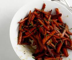 pomegranate balsamic glazed carrots finecooking