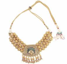 designer pearl gemstone gold jewellery wear and cheer