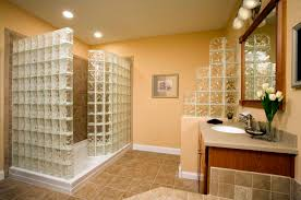 glass block bathroom ideas bathroom recessed lighting design ideas with beige theme wall and