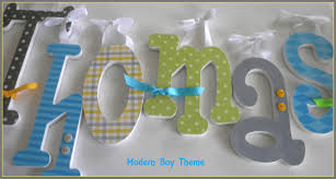 Letter Decorations For Nursery Decorative Letters For Baby Boy Nursery Decor Accents