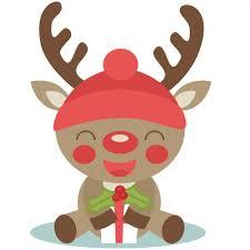christmas deer christmas reindeer scrapbook cut file clipart files for
