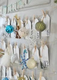 Advent Decorations Make A Daily Ornament Advent Calendar From An Old Door The Diy Mommy