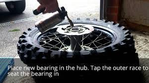 rear wheel bearing replacement ktm 250 excf youtube