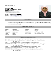 Job Resume Example Malaysia by Resume Sample Doc Malaysia Template