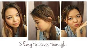 Hairstyles Easy And Quick by 5 Easy And Quick Heatless Hairstyle For Casual Day Youtube